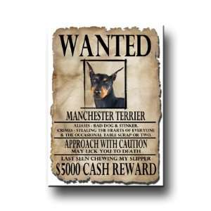 Manchester Terrier Wanted Fridge Magnet