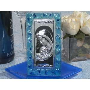Baby Keepsake Murano Art Deco Icon with Blue glass