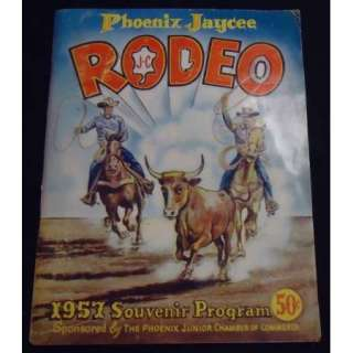 1957 Phoenix Jaycee Vintage Rodeo Program   JIM SHOULDERS