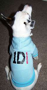 New One Direction Dog Hoodie Hooded Top Sweatshirt Size Large & XL