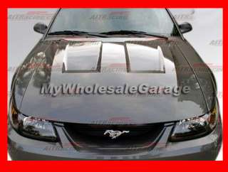 99 04 Ford Mustang Heat Extract Fiberglass Vented Hood