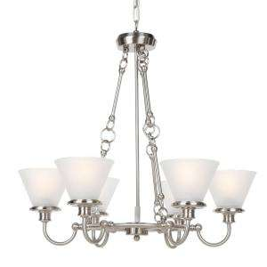 Hampton Bay Brushed Nickel Six Light Chandelier CBX8116 4/SC 1 at The