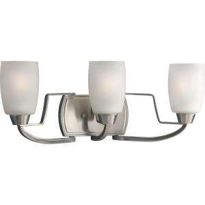 Progress Lighting Wisten Collection Brushed Nickel 3 light Vanity