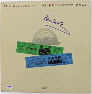 PAUL MCCARTNEY BEATLES AT HOLLYWOOD BOWL SIGNED ALBUM COVER W/ VINYL