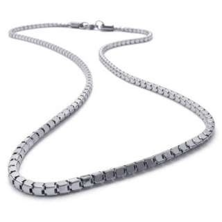 21.6 3mm Mens Silver Tone Stainless Steel Necklace Chain US120718