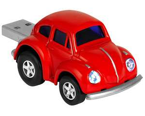 VW Beetle Red USB Memory Stick Flash Pen Drive 2Gb