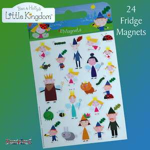 Ben and Holly Hollys Little Kingdom Fridge Magnets A4 Sheet   24