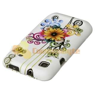 White Flower Hard Case Cover for Samsung Galaxy S Plus