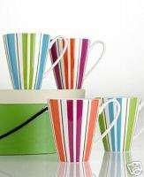 Lenox kate spade Collins Stripe Mugs, Set of 4 NIB