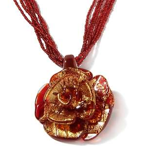 Passport to Fine Jewelry Murano Glass Rose 20 Necklace