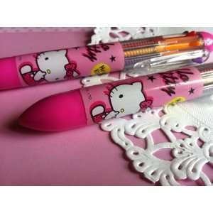 Authentic Sanrio Hello Kitty   8 Color Ball Point Pen Toys & Games