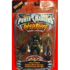 RANGERS Wild Force   Deluxe Black Savage Battle Power Ranger Toys