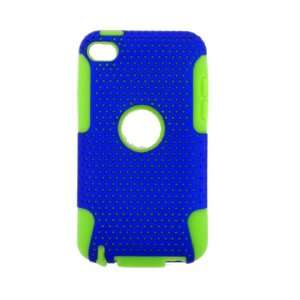 Apple iPod Touch 4 2 IN 1 HYBRID Hard SILICON CASE BLUE