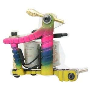 10 Wrap Coils Colorful Handmade Tattoo Machine SHADER LINER Gun new