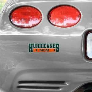 NCAA Miami Hurricanes Mom Car Decal Automotive