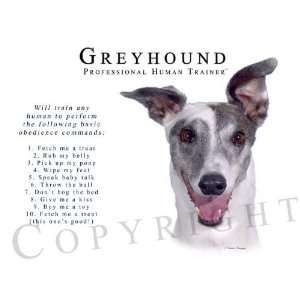 Greyhound Human Trainer Mouse Pad Dog Mousepad