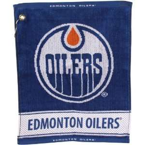NHL Edmonton Oilers 16 x 19 Woven Terry Golf Towel
