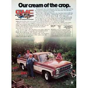 1979 Ad GMC General Motors Pickup Trucks Farming Hauling