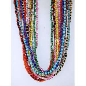 12 Color Assorted Glass Bead Necklaces 27 Inches Arts