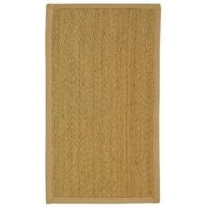 Natural and Beige Seagrass Area Rug, 2 Feet by 3 Feet