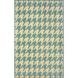 Sawgrass Mills Houndstooth Spruce Rug   Large 8x10