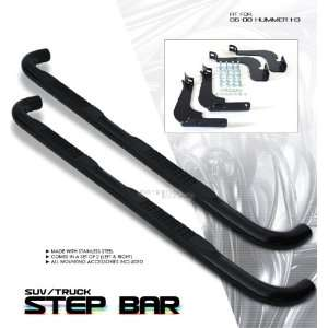 06 07 08 HUMMER H3 HUMMVEE SIDE STEP NERF BAR BLACK SS