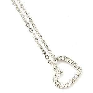 Small Heart Shape Crystal Necklace Sku2050 Jewelry