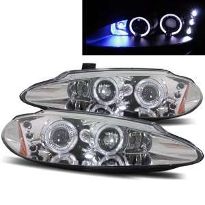 04 Dodge Intrepid Halo LED Projector Headlights   Chrome Automotive