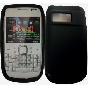 Palace  Black silicone skin case cover pouch for Nokia E6 Electronics