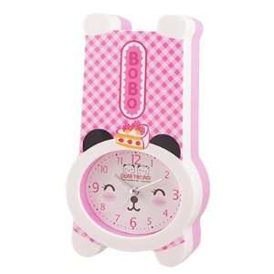 Bear Shape Plastic Oval Dial Alarm Clock Coin Box Case
