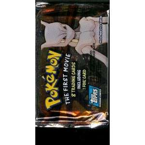 Topps Pokemon The First Movie Trading Card Pack   8 cards per pack