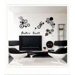 Circles removable Vinyl Mural Art Wall Sticker Decal