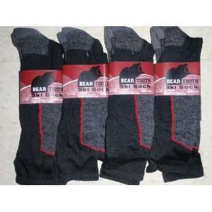 4 Pair Mens Or Ladies BEAR TOOTH Ski Socks 20% Merino Wool