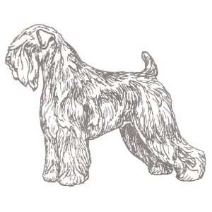 Dog Rubber Stamp   Soft Coated Wheaten   1F