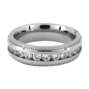 12   Inox Jewelry Cubic Zirconia 316L Stainless Steel Ring Jewelry
