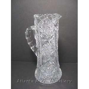 Brilliant Cut Glass Water or Lemonade Pitcher