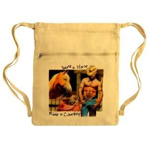 Messenger Bag Sack Pack Yellow Country Western Cowgirl Save A Horse