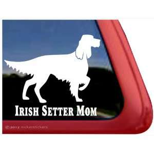 Irish Setter Mom ~ Irish Setter Vinyl Window Auto Decal