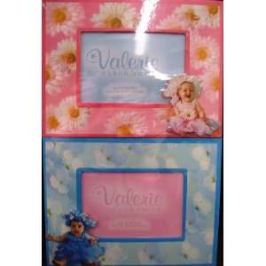 Baby Wood Adorable Girl/boy pink/blue Picture Frame Set Baby