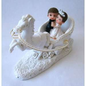 Baby Keepsake Set of 12 Boy & Girl Couple on Horse N Carriage Shower
