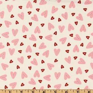 44 Wide Love Nest Hearts White Fabric By The Yard Arts