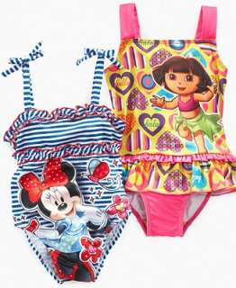 Disney Kids Swimwear, Little Girls Minnie Mouse and Dora the Explorer