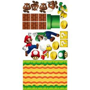 Super Mario Wall Sticker Decals Make Your Own Mural