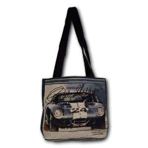 Carroll Shelby Cobra Vintage Car Racing Art Cotton Tapestry Tote Bag