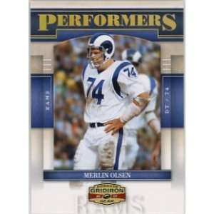 Merlin Olsen St. Louis Rams 2007 Donruss Gridiron Gear Performers Gold