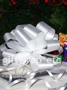 50 WHITE PULL BOWS GIFT RIBBON CHRISTMAS BASKET WREATH