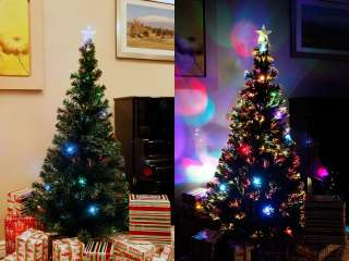 FT PRE LIT MULTI COLOR LED FIBER OPTIC CHRISTMAS TREE