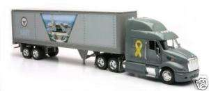 NAVY PETERBILT SEMI TRUCK 132 NEW RAY