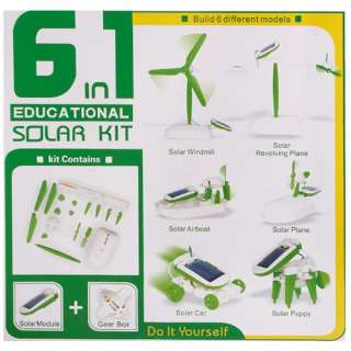in 1 Manual Assemble Solar Power Educational Kits Toy