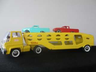 Vintage Tonka Toy Car Carrier Transporter Toy Truck